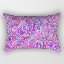Seamless purple flower pattern Rectangular Pillow