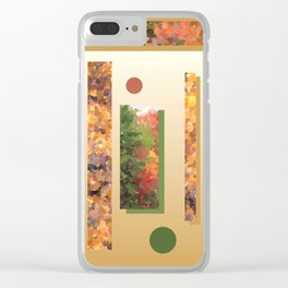 Autumn leaves as wind chimes #2 Clear iPhone Case