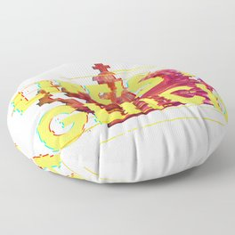 Vaporwave Life's a Glitch Art Aesthetic Crown Glitch effect product Floor Pillow