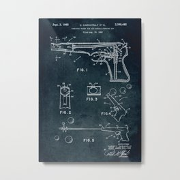 1965 - Combined water gun and bubble forming toy Metal Print