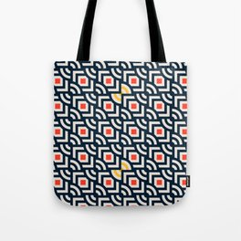 Round Pegs Square Pegs Navy Blue Tote Bag