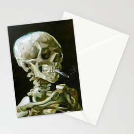 Vincent van Gogh - Head of a skeleton with a burning cigarette - Original white Stationery Cards