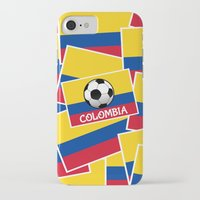 colombia iPhone & iPod Cases featuring Colombia Football by mailboxdisco