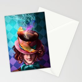 Crazy Mad Hatter Stationery Cards