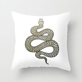 Snake's Charm Throw Pillow