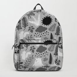 PNW Forest in Black + Gray + White Backpack