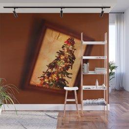 Reflected Christmas tree Wall Mural