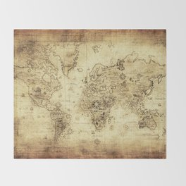 Old World map Throw Blanket