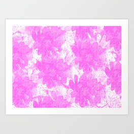 Distorted Floral  Art Print