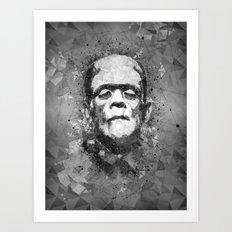 Frankenstein's Monster Abstract geometric Art Art Print