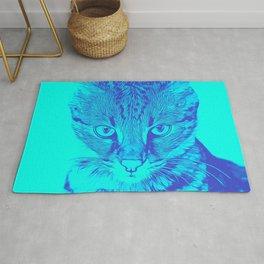savannah cat portrait vatb Rug