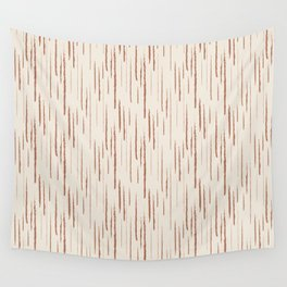 Cavern Clay SW 7701 Grunge Vertical Stripes on Creamy Off White SW7012 Wall Tapestry