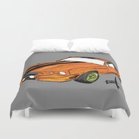 mustang Duvet Covers featuring Mustang by Portugal Design Lab