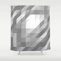 polygon Shower Curtains featuring Polygon 13 by Jambot