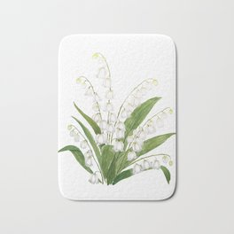 white lily of valley Bath Mat