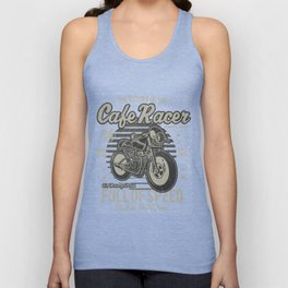 Caferacer Motorcycle Vintage Poster Unisex Tank Top
