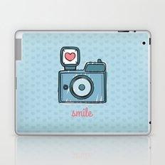 Blue Smile Laptop & iPad Skin