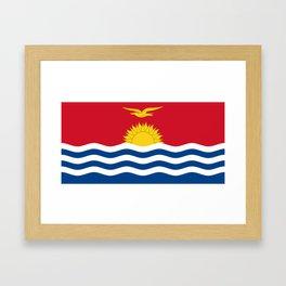 Kiribati Flag Framed Art Print