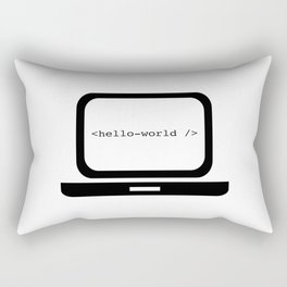 Hello World Rectangular Pillow