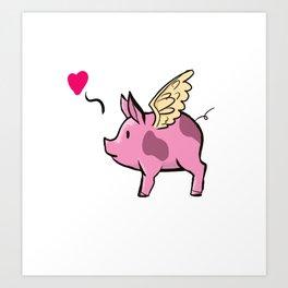 Flying Pig Art Print