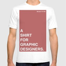 BDFD - Graphic Designer MEDIUM Mens Fitted Tee White