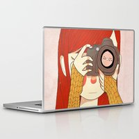 nan lawson Laptop & iPad Skins featuring Behind The Lens by Nan Lawson