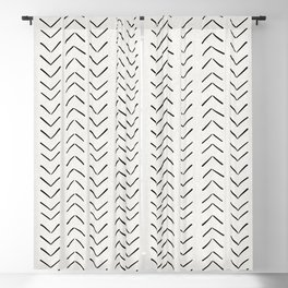 Mud Cloth Big Arrows in Cream Blackout Curtain