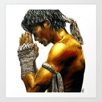 Muay Thai Art Print