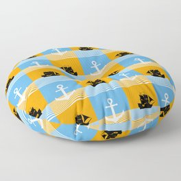 Sailboat and anchor pattern Floor Pillow