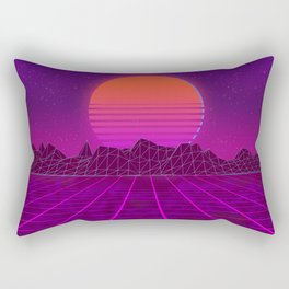 Welcome to the 80's! A synthwave styled artwork Rectangular Pillow