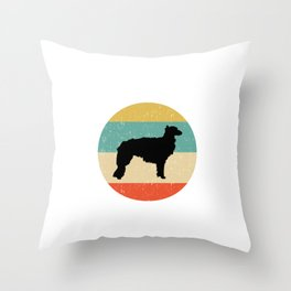 Silken Windhound Dog Gift design Throw Pillow