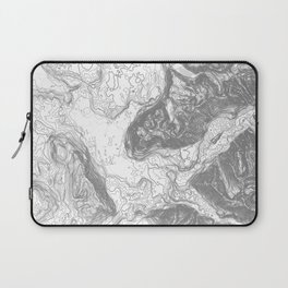 NORTH BEND WA TOPO MAP - LIGHT Laptop Sleeve