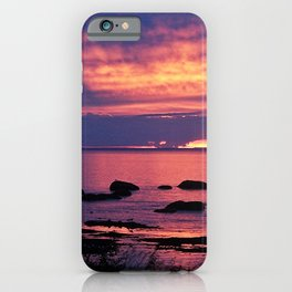 Sunset on the Mighty St-Lawrence iPhone Case