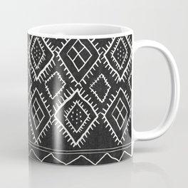 Beni Moroccan Print in Black and White Coffee Mug