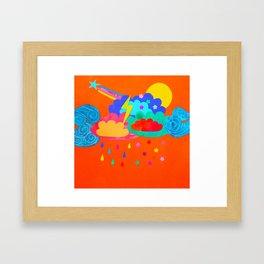 Bright Storm Framed Art Print