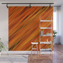 Rough Red Embers Abstract Wall Mural