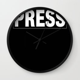 Press Wall Clock
