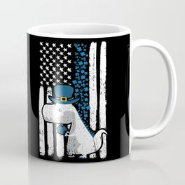 Thin Blue Line St Patricks Police Dinosaur Coffee Mug