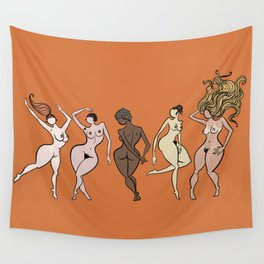 naked girl of all races Wall Tapestry