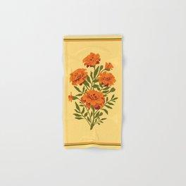 Marigold Flowers Hand & Bath Towel