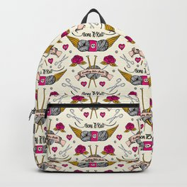 Born To Knit Backpack
