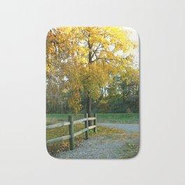 Autumn Country Road Bath Mat