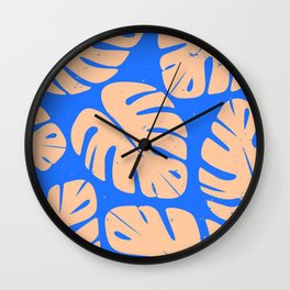 Monstera Leaf Print 5 Wall Clock