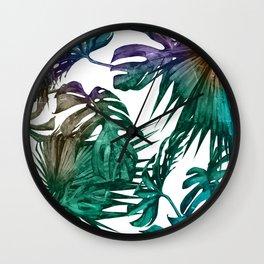 Tropics Tropical Jungle Island Pattern Wall Clock