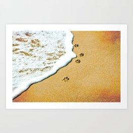 Paw Prints Art Print
