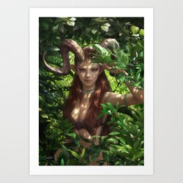 Bariaur In The Forest Art Print