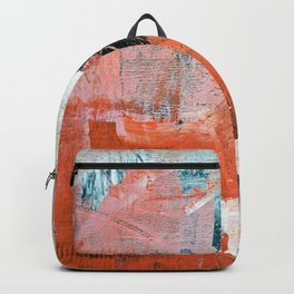 Interrupt [3]: a pretty minimal abstract acrylic piece in pink white and blue by Alyssa Hamilton Art Backpack