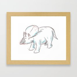 Dinosaurs 3 - Brachyceratops Framed Art Print