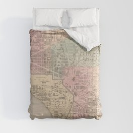 Vintage Map of Washington DC (1857) Comforters