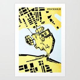 STOCKHOLM (MAPSTAT SERIES) Art Print